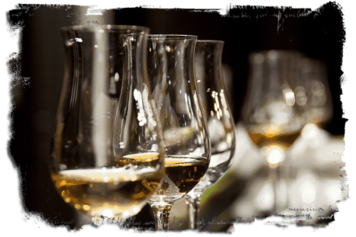 photo of whisky glasses