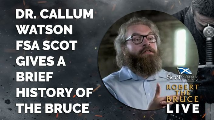 image of on location with Robert The Bruce Film Dr. Callum Watson FSA Scot Gives A Brief History Of Robert The Bruce