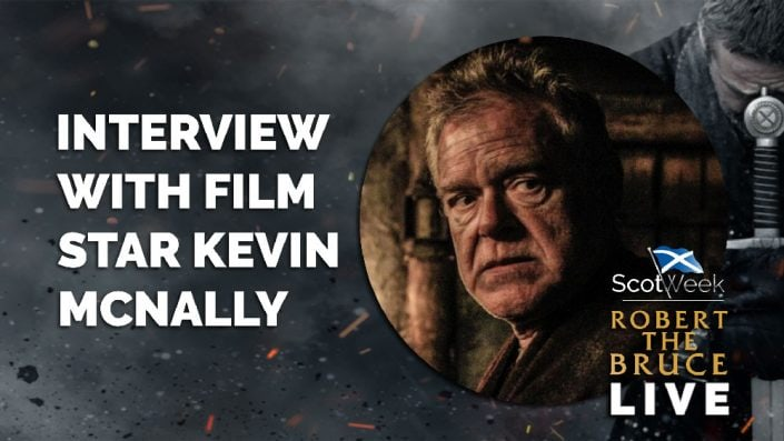 image of on location with Robert The Bruce Film Interview With Film Star Kevin McNally