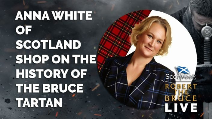 image of on location with Robert The Bruce Anna White Of Scotland Shop On The History Of The Bruce Tartan