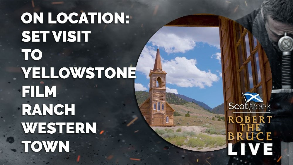 image of on location with Robert The Bruce On Location - Set Visit To The Yellowstone Film Ranch Western Town